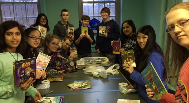 Boston Youth Sticker 4,000 New Books in Two Hours!